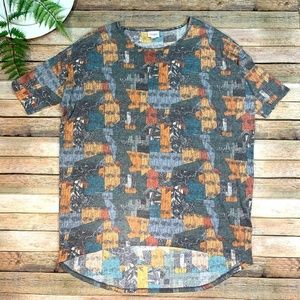 Lularoe Irma Tunic Top Shirt Colorful Geometric M